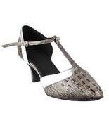 Very Fine Ladies Women Ballroom Dance Shoes EKSA3551 Grey Croc & Silver ... - $65.95