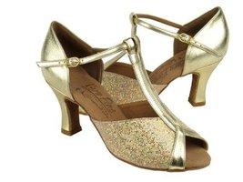 "Ladies' Latin Rhythm Salsa Signature S2804 Gold Scale & Gold 3"" (8.5M) - $75.95"