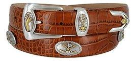 Bayside- Italian Calfskin Leather Designer Dress and Golf Belt For Men (ATAN,32) - $39.59