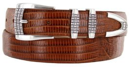 "Jakarta Italian Calfskin Leather Designer Dress Golf Belts for Men 1-1/8"" Wid... - $29.20"