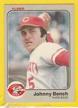 Johnny Bench 1983 Fleer #584 Cincinnati Reds - $1.98