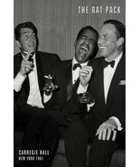 the rat pack poster carnegie hall 1965 frank sinatra 24x36 dean martin - $21.00