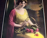 Lady with roses art print 001 thumb155 crop