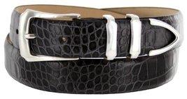 Vins Italian Calfskin Leather Designer Dress Belts for Men (36, Alligator Cha... - $29.20