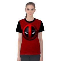 Deadpool Marvel Comics Superhero Logo Women's Short Sleeve Cotton T-Shirt - £10.72 GBP+