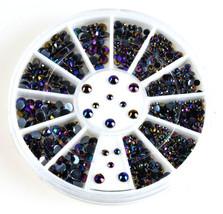 300 pcs Crystal Glitter Rhinestone Pearl 3D Nail Art TipsDecoration Whee... - $1.60