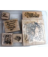 Stampin Up SLEIGH RIDE  stamp set HOLIDAY wood Unused - $24.26