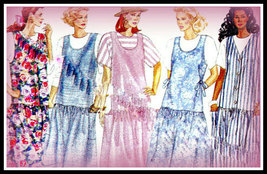 Misses Butterick 3518 Maternity Easy Drop Waist Jumper Dress & Top uncut size 1 - $5.50