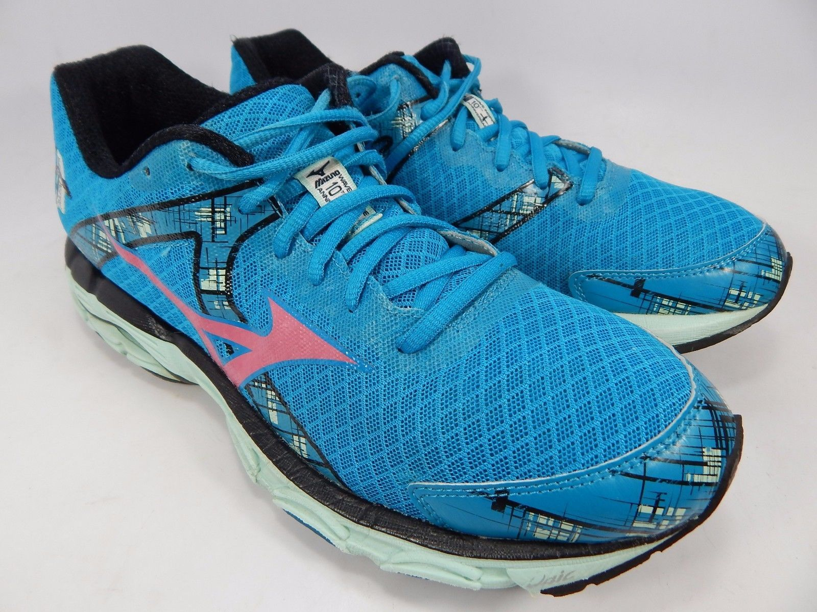 Mizuno Wave Inspire 10 Women's Running Shoes Size US 10 M (B) EU 41 Aqua Blue