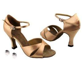 """Very Fine Ladies Women Ballroom Dance Shoes EK6029 Brown Satin 3"""" Heel (8.5M) - $64.95"""