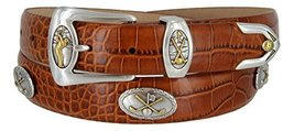 Bayside- Italian Calfskin Leather Designer Dress and Golf Belt For Men (ATAN,54) - $39.59