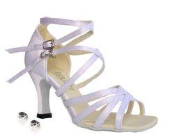 "Very Fine Ladies Women Ballroom Dance Shoes EK5008 White Satin 3"" Heel (... - $64.95"