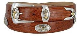 Bayside- Italian Calfskin Leather Designer Dress and Golf Belt For Men (LTAN,34) - $39.59