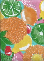 Medley Hill Valley Fruit Vinyl Tablecloth with Flannel Back - $10.99+