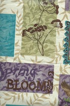 Spring Bloom Love Birds Flower Butterflies Vinyl Tablecloth with Flannel Back - $10.99+