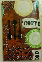 Coffee Break Vinyl Tablecloth with Flannel Back - $11.99+