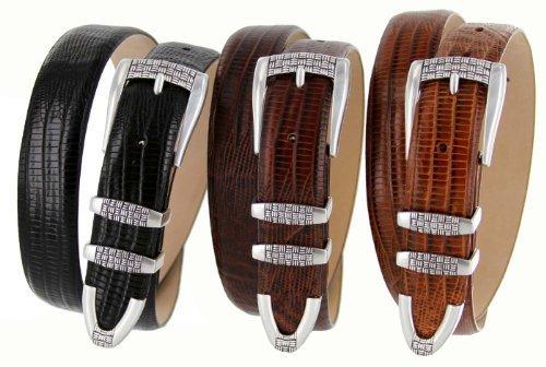 "Jakarta Italian Calfskin Leather Designer Dress Golf Belts for Men 1-1/8"" Wid..."