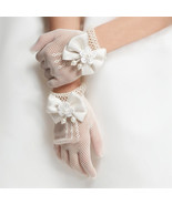 Flower Baby Girls Bow Tie Lace Party Gloves - $7.98