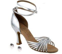 "Very Fine Ladies Women Ballroom Dance Shoes EKS1001 Silver Scale & Silver 3"" ... - $68.95"