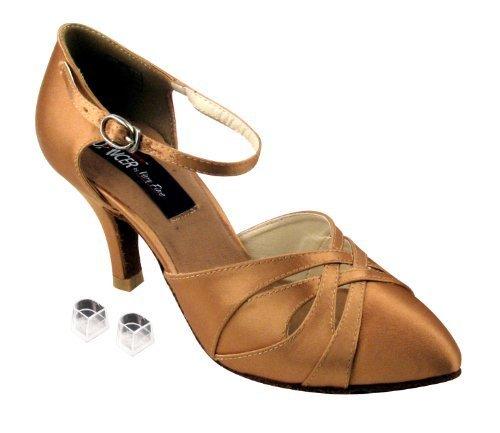 "Very Fine Ladies Women Ballroom Dance Shoes EKCD6007 Black Satin 2.5"" Heel (4..."
