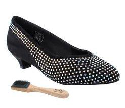 Very Fine Ladies Women Ballroom Dance Shoes EKCD5506 Black Suede & Satin... - $79.95