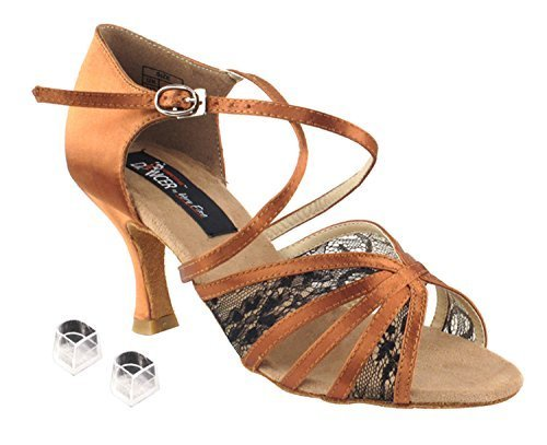 Ladies Women Ballroom Dance Shoes Very Fine Competitive Dancer EKCD3021 with ...