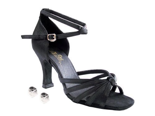 "Very Fine Ladies Women Ballroom Dance Shoes EK6005 White Satin & Stone 3"" Hee..."