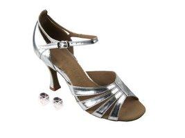 "Very Fine Ladies Women Ballroom Dance Shoes EKSA1680 Silver Leather 2.5"" Heel... - $65.95"