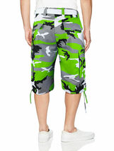 Men's Tactical Military Army Camo Camouflage Slim Fit Cargo Shorts With Belt image 14