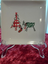 Reindeer & Tree Home Accents, Appetizer plate, EUC - $4.99