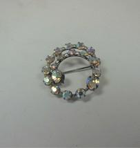 Aurora Borealis Circle Pin Brooch - $13.85