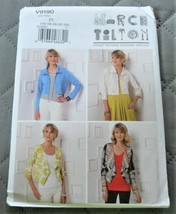Pattern Vogue Designer Shrug March Tilton V9190 Uncut Factory Folded - $14.35
