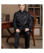Men's Silk Traditional Chinese Tang Suit Coat clothing Kung Fu Tai Chi U... - $34.48