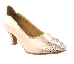 "Very Fine Ladies Women Ballroom Dance Shoes EKSA5501 Flesh Satin 2.5"" Heel (8M) - $65.95"