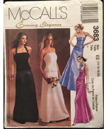 McCalls 3683 Evening Elegance 2PCGown Strapless or Halter Top & Skirt Si... - $8.00