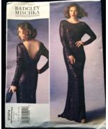 Vogue Badgley Mischka Close Fitting Plunging Draped Back  Wedding, Prom,... - $15.00