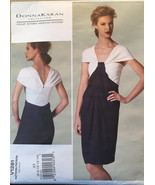 Vogue Donna Karan Collection Close Fitting Dress with Pleated Front Drap... - $10.00