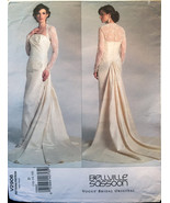 Vogue 2906 Bridal Belville Sassoon Wedding/ Formal Gown withTrain and La... - $30.00