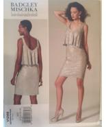 Vogue V1288 Badgley Mischka Close Fitting, Mod Retro, 60s Go Go Dress Si... - $12.00