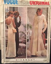 Rare Vogue Paris Original Givenchy Scooped Back Evening Gown/Dress with Matching - $100.00