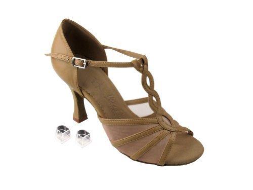 Very Fine Ladies Women Ballroom Dance Shoes EKSA1692 Silver Leather & Flesh M...