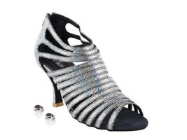 "Very Fine Ladies Women Ballroom Dance Shoes EKCD3026 Black 2.5"" Heel (6M) - $79.95"