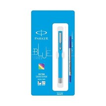 Parker Vector Limited Edition CT Roller Ball Pen Ballpoint Pen Standard Blue Col - $14.84