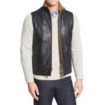 High Collar Men Leather Vest
