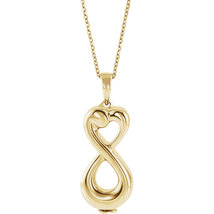 10K Yellow or White Gold Infinity Love Ash Holder Necklace - $535.99