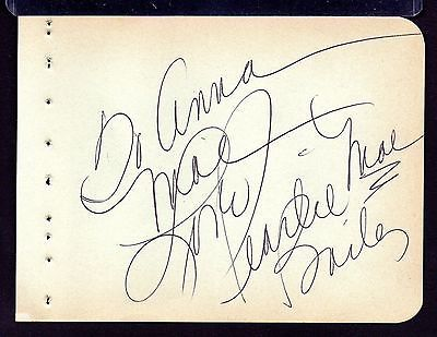 PEARL BAILEY Signed autograph album page