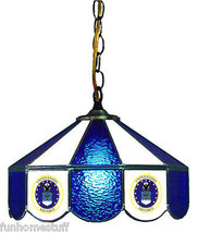 """U.S.A.F. 14"""" STAINED GLASS HANGING BAR LAMP UNITED STATES AIR FORCE PUB ... - $269.95"""