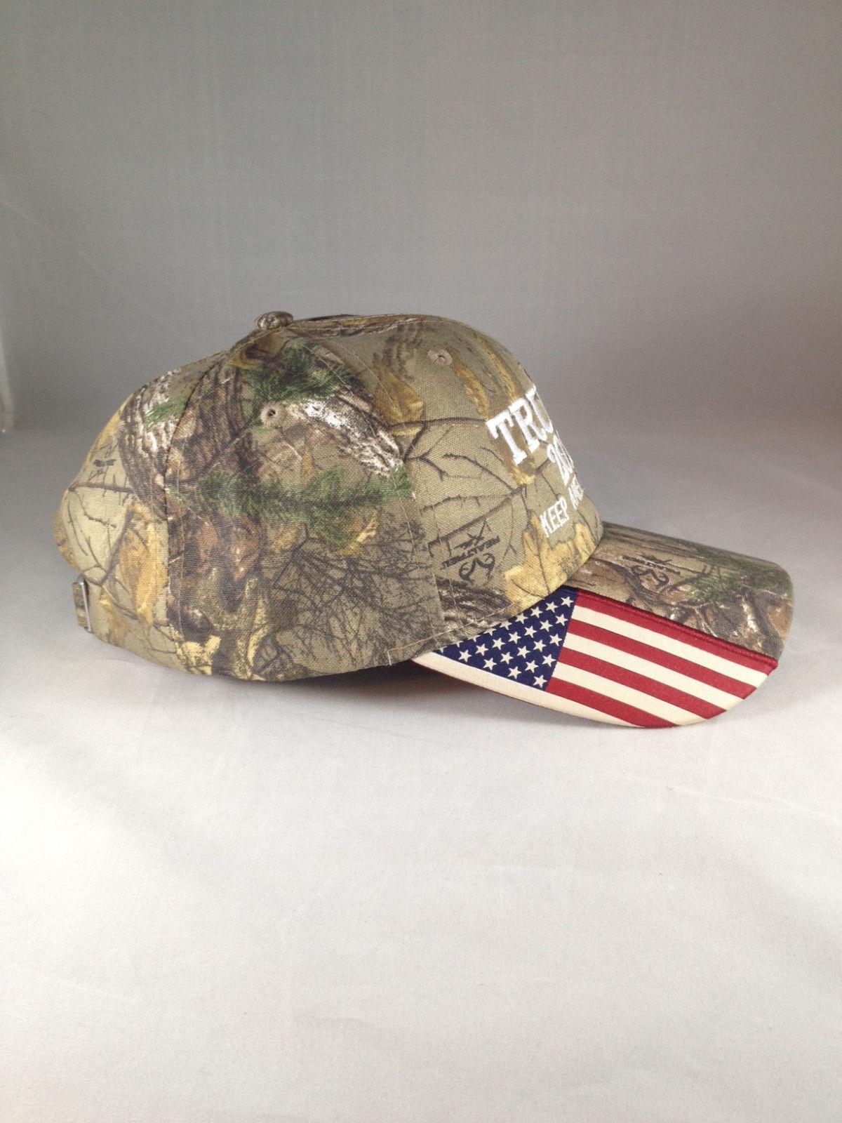 Trump 2020 American Flag Realtree Xtra Hat Keep America Great MAGA USA Camo Cap