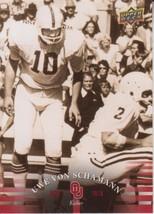 Uwe Von Schamann 2011 Upper Deck University Of Oklahoma Card #36 - $0.99