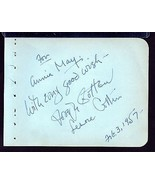 JOSEPH COTTEN AND WIFE LENORE COTTEN Signed on ... - $41.58